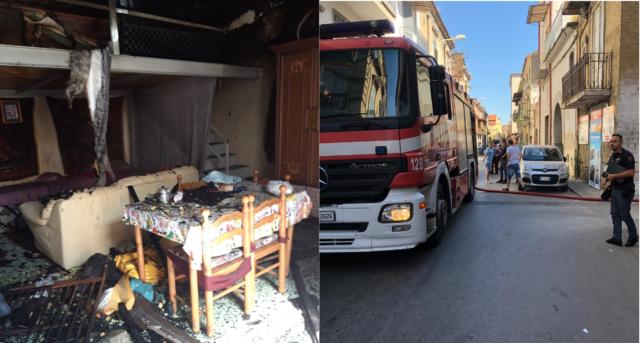 Incendio in un'abitazione a Frattamaggiore:  arrivano gli Angeli in Divisa, salvata un'intera famiglia.
