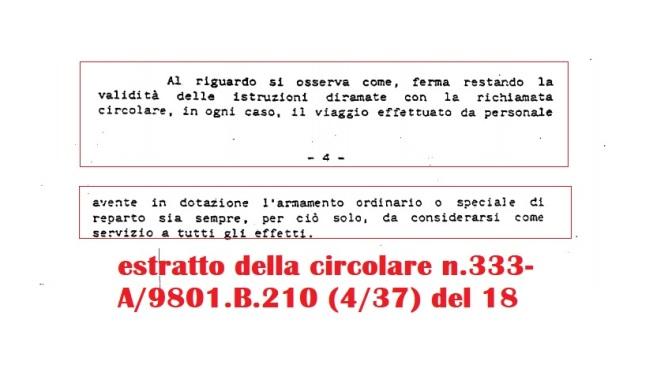 REPARTO MOBILE DI NAPOLI -COMPUTO VIAGGI DI SERVIZIO IN NAVE SFS IN SICILIA – aggiornamenti..